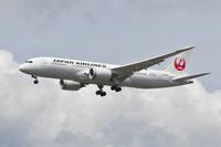 Japan Airlinesin Boeing 787 Dreamliner saapuu ensimmäiselle konetyypin vierailulle Helsinki-Vantaalle.
