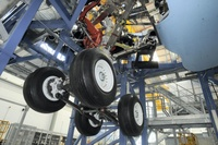 A350_XWB_landing_gear_bench_entry_into_service
