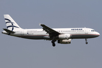 Aegean Airlinesin Airbus A320.