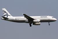 Aegean Airlinesin Airbus A320.