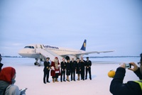 kittila_airport_lufthansa_inaugural_flight_2
