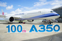 100th-A350-XWB-delivered-to-China-Airlines-