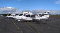 Kaksi AeroVolga LA-8 -amfibiokonetta Malmin lentoasemalla