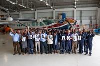 MAF Kenya staff in the Nairobi hangar